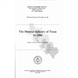 MC0080. The Mineral Industry of Texas in 1986