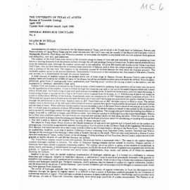 MC0006. Sulphur in Texas