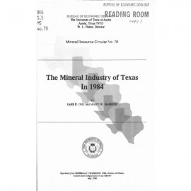 MC0078. The Mineral Industry of Texas in 1984