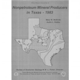MC0074. Nonpetroleum Mineral Producers in Texas: 1983