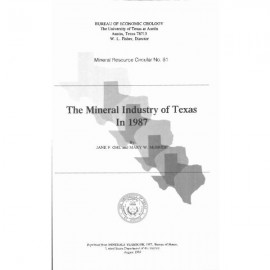 MC0081. The Mineral Industry of Texas in 1987