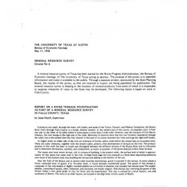 MS0006. Report on a River Terrace Investigation as a Part of a Mineral Resource Survey in Falls County, Texas