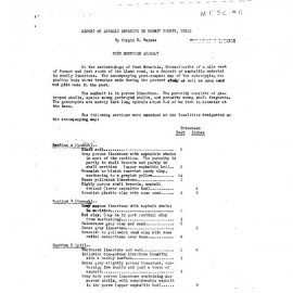 MS0011. Report on Asphalt Deposits in Burnet County