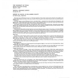 MS0018. Report on Gravel in Williamson County