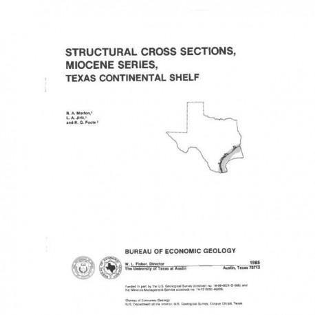 CS0005. Structural Cross Sections, Miocene Series, Texas Continental Shelf