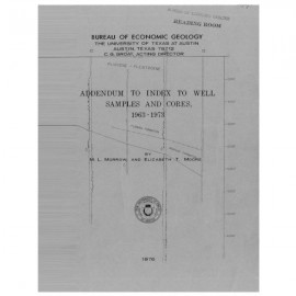 IS0003. Addendum to Index to Well Samples and Cores, 1963-1973