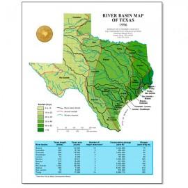 SM0006. River Basin Map of Texas