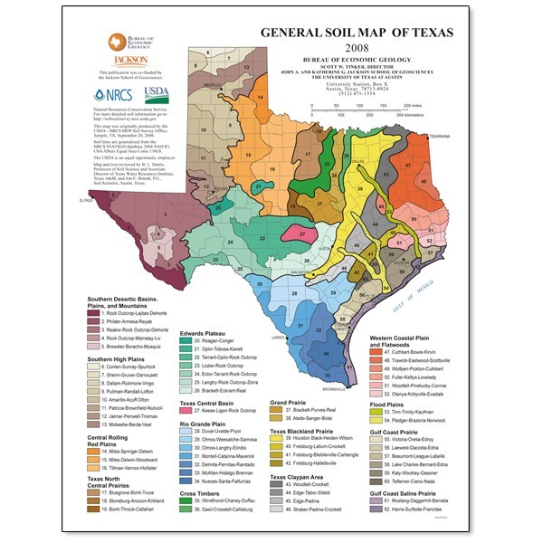 SM0012. General Soil Map of Texas - page-sized - The Bureau Store