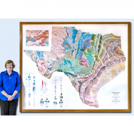 SM0003. Geologic Map of Texas (4 sheets)
