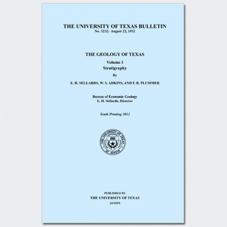 BL3232. The Geology of Texas, v. I, Stratigraphy Book and Map