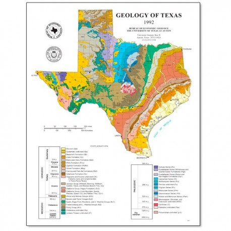 SM0002P. Geology of Texas Map (poster)