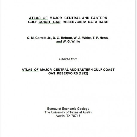 AT0006. Atlas of Major Central and Eastern Gulf Coast Gas Reservoirs: Database
