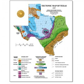 SM0004. Tectonic Map of Texas