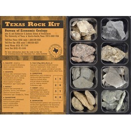 RK0001. Rock Kit - 8 small samples of Central Texas rocks