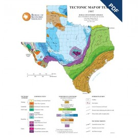 SM0004PD. Poster-Tectonic Map of Texas - Downloadable