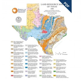 SM0007PD. Land Resources of Texas Map (poster) - Downloadable