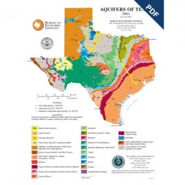 SM0009PD. Aquifers of Texas Map (poster) - Downloadable
