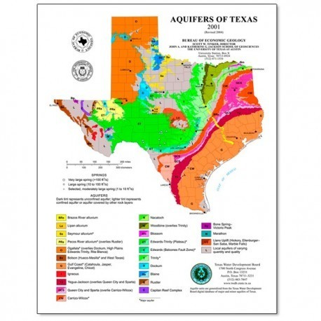 SM0009P. Aquifers of Texas Map (poster)