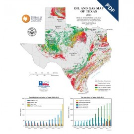 SM0010PD. Poster - Oil and Gas Map of Texas - Downloadable