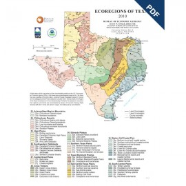 SM0013PD. Poster - Ecoregions of Texas - Downloadable