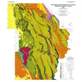 GQ0054. Structural geology of the Sierra del Carmen, Trans-Pecos Texas