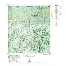 GQ0012. Bear Creek quadrangle, Texas