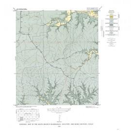 GQ0018. Klein Branch quadrangle, Texas