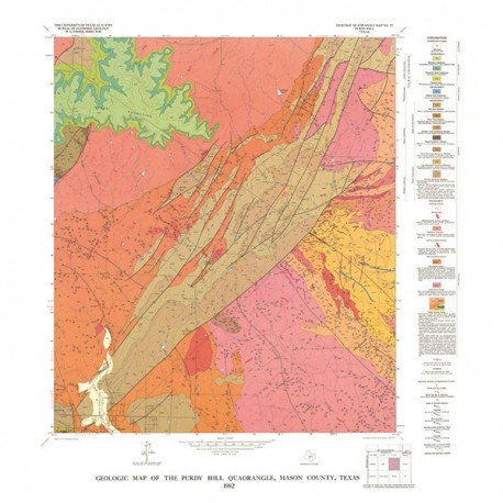 GQ0052. Geology of the Purdy Hill quadrangle, Mason County, Texas