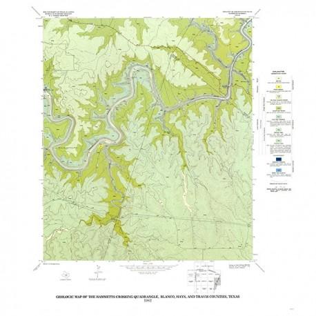 GQ0051. Geology of the Hammetts Crossing quadrangle, Blanco, Hays, and Travis Counties, Texas