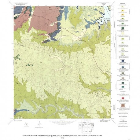 GQ0050. Geology of the Spicewood quadrangle, Blanco, Burnet, and Travis Counties, Texas