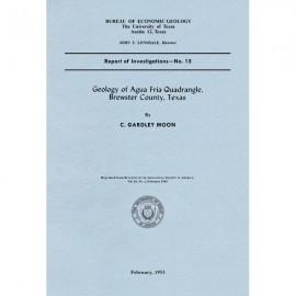 RI0015. Geology of Agua Fria Quadrangle, Brewster County, Texas