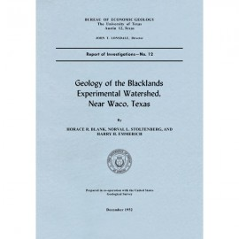 RI0012. Geology of the Blacklands Experimental Watershed, Near Waco, Texas