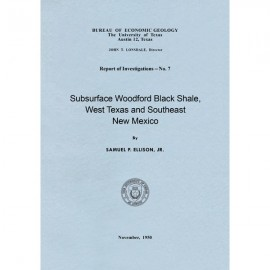 RI0007. Subsurface Woodford Black Shale, West Texas and Southeast New Mexico