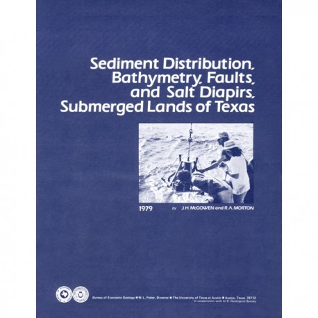 SR0008. Sediment Distribution, Bathymetry, Faults, and Salt Diapirs, Submerged Lands of Texas