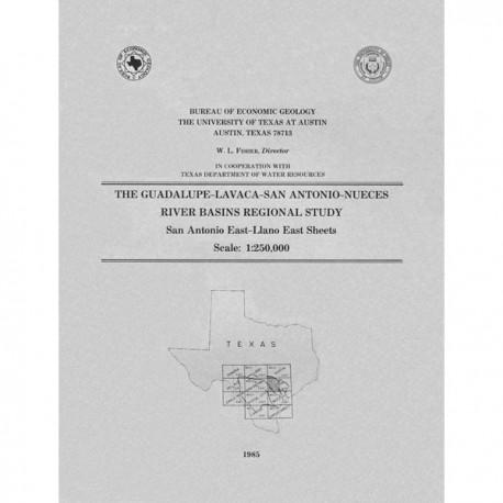 RB0001. The Guadalupe-Lavaca-San Antonio-Nueces River Basins Regional Study, San Antonio East-Llano East Sheets