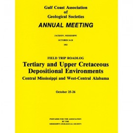 MGS 105G.  Tertiary and Upper Cretaceous Depositional Environments, Central Mississippi and West-Central Alabam