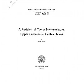 GC6503. A Revision of Taylor Nomenclature: Upper Cretaceous, Central Texas