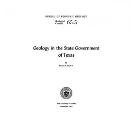 GC6505. Geology in the State Government of Texas