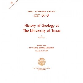 GC6703. History of Geology at The University of Texas
