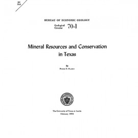 GC7001. Mineral Resources and Conservation in Texas