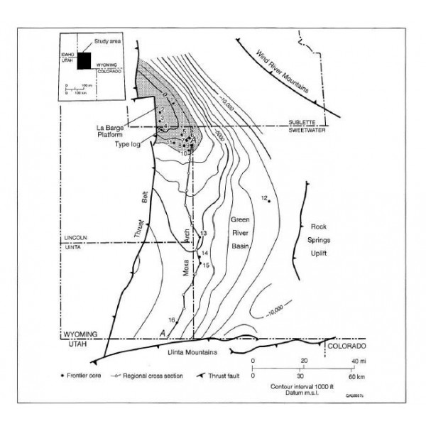 RI0234D  Geologic Controls on Reservoir Properties   , Frontier Formation,  Moxa Arch   Wyoming - Downloadable PDF
