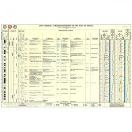 GCS407. Lower Cenozoic Chronology of Gulf Chart, 1996. Two sheets in color with explanatory text on back of Sheet One