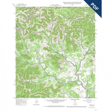 OFM0005D. Tarpley quadrangle, Texas  - Downloadable PDF