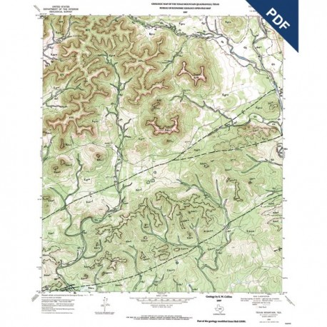 OFM0006D. Texas Mountain quadrangle, Texas