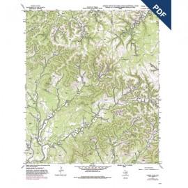 OFM0012D. Turkey Knob quadrangle, Texas - Downloadable PDF