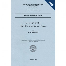 RI0008D. Geology of the Barrilla Mountains, Texas