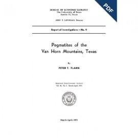 RI0009D. Pegmatites of the Van Horn Mountains, Texas