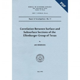 RI0011D. Correlation between Surface and Subsurface Sections of the Ellenburger Group of Texas