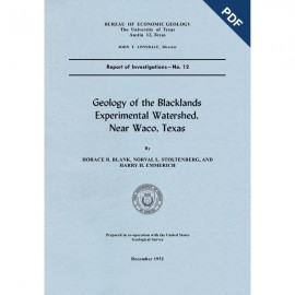 RI0012D. Geology of the Blacklands Experimental Watershed, Near Waco, Texas