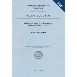 RI0015D. Geology of Agua Fria Quadrangle, Brewster County, Texas